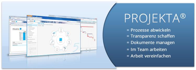 Ihre Projekte effizient koordiniert mit der Projektmanagement-Software PROJEKTA